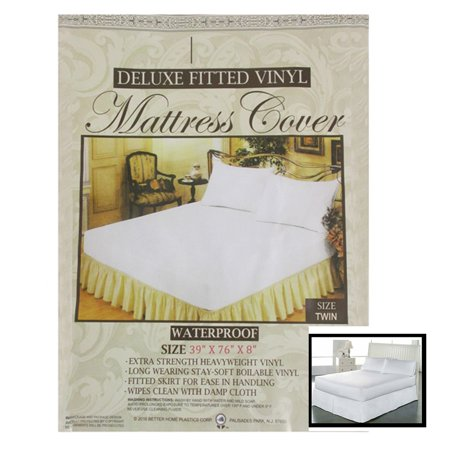 1 Twin Waterproof Mattress Cover Fitted Plastic Allergy Relief Bed Bug ()