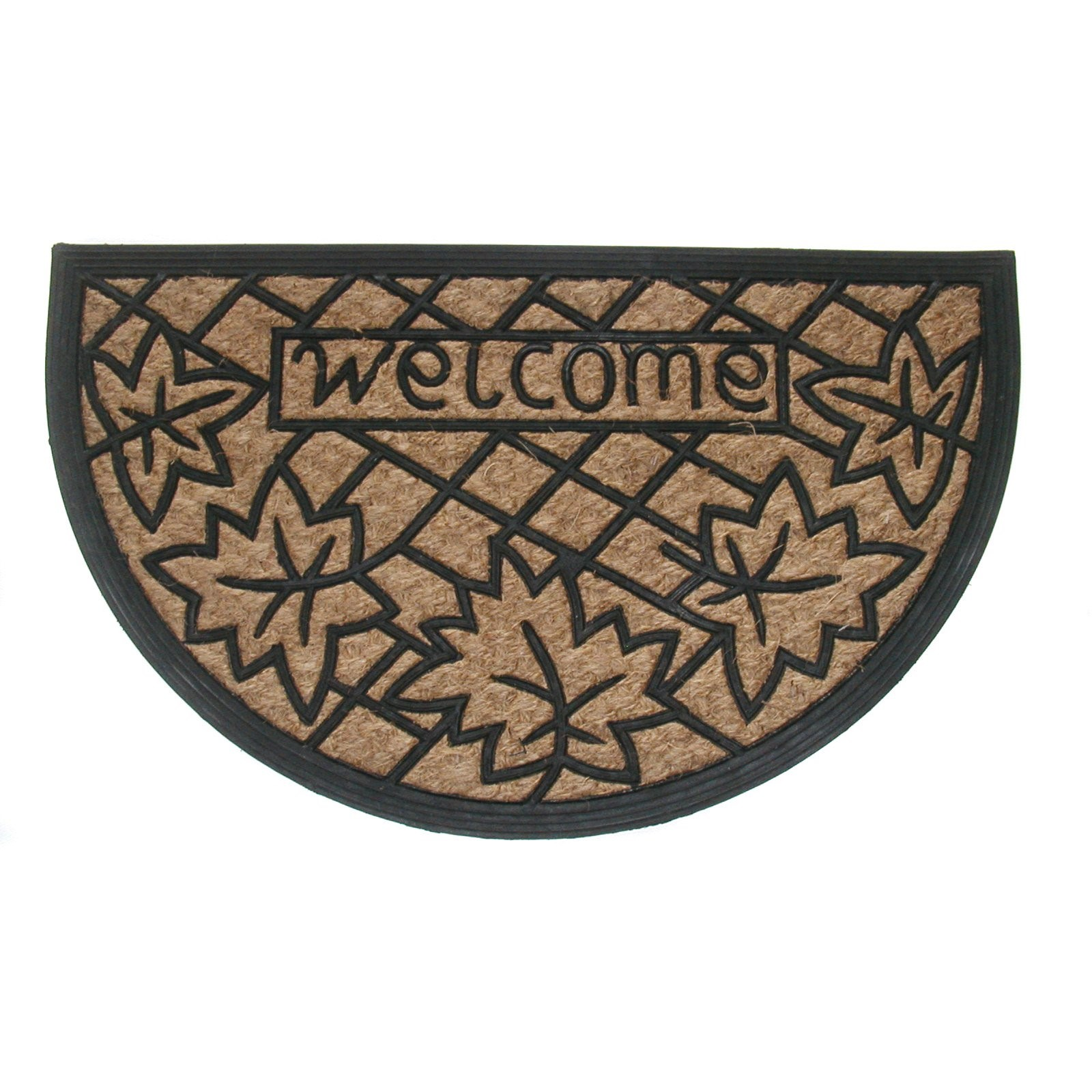 Tuffcor Panama Welcome Leaves Mat, 18 x 30