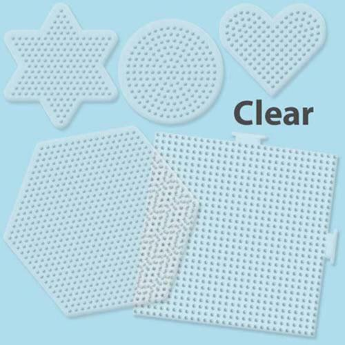 Perler Beads Small   Large Basic Shapes Clear Peg Boards: 5 Ct