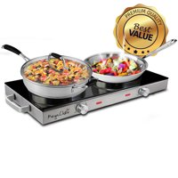 MegaChef Ceramic Infrared Double Cooktop