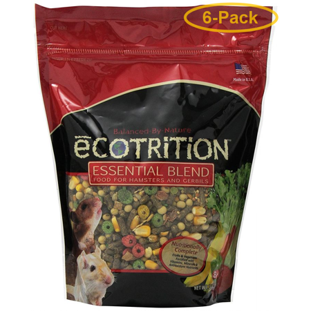 Ecotrition Essential Blend Diet for Hamsters & Gerbils 2 lbs - Pack of 6