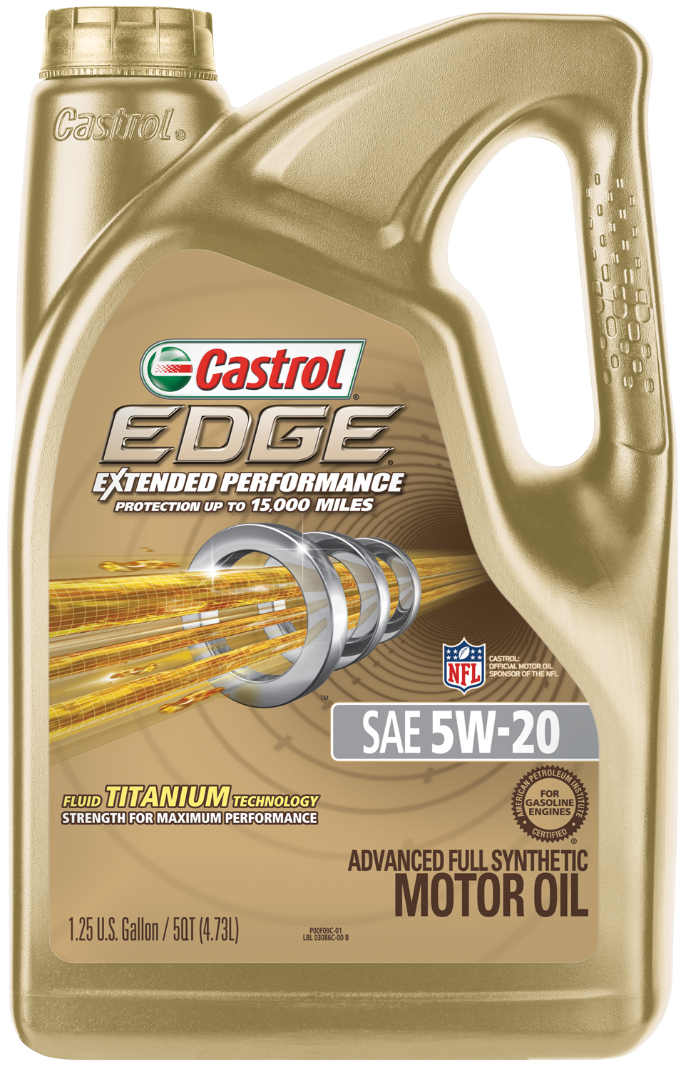 Castrol EDGE Extended Performance 5W-20 Full Synthetic Motor Oil, 5 QT by Castrol