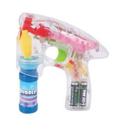 Super Light Up Laser Bubble Gun With LED Flashing Lights