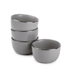 Thyme & Table Servware Gray Ava Stoneware Round Bowls, 4 Pack