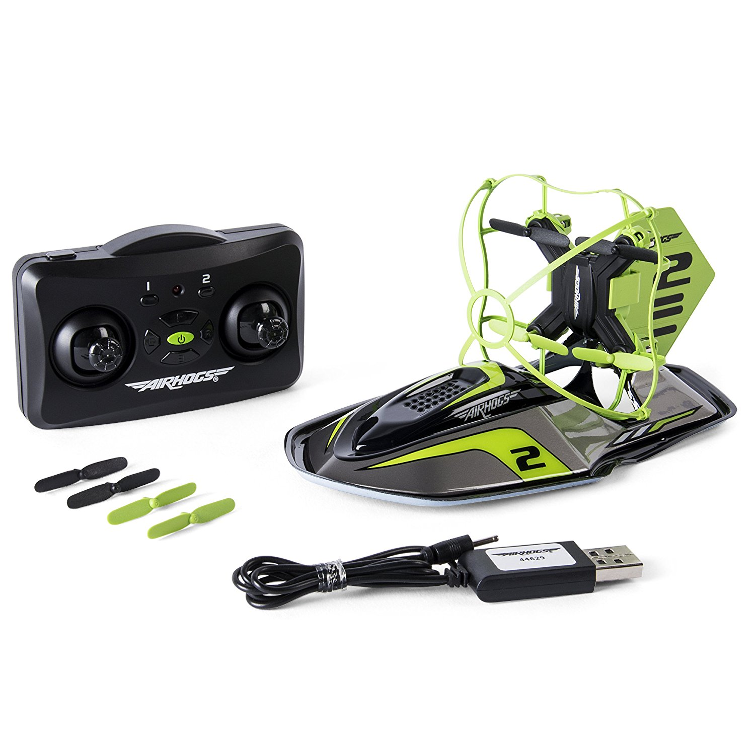 Refurbished Spin Master 20093871 Air Hogs 2-in-1 Hyper Drift Drone Green by SPIN MASTER
