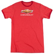Chevy Chevy Bowtie Stacked Mens Adult Heather Ringer Shirt