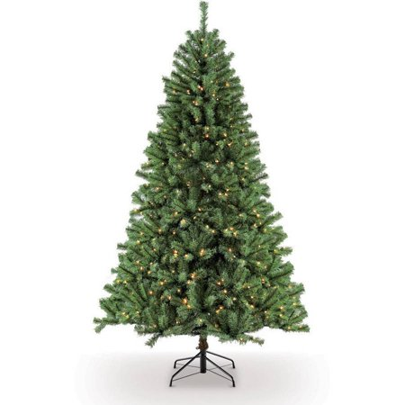 Puleo International 7.5' Pre-Lit Northern Fir Artificial Christmas Tree with 600 Clear UL Listed -