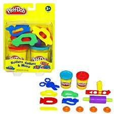 Play-Doh Rollers & Cutters Set with 2 Cans of Dough & 8+ Tools