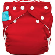 Charlie Banana 2-in-1 Reusable Diapering System, 1 Diaper and 2 Inserts, (One Size), Red