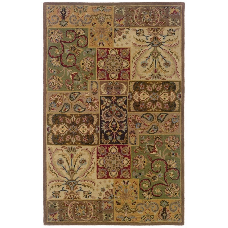 Sphinx Windsor Area Rugs - 23103 Traditional Oriental Beige Persian Boxes Squares Vines Rug