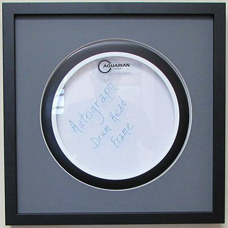14 drum head display frame set black frame grey matting easy mount grey white trim. Black Bedroom Furniture Sets. Home Design Ideas