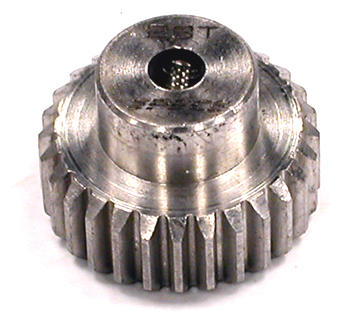 Integy RC Toy Model Hop-ups C23428 Billet HD Stainless Steel 48 Pitch Pinion 28T for Brushless w/ 0.125 Shaft