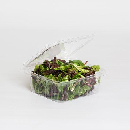 Inline Plastics Safe-T-Fresh Polyethylene Tamper Resistant Square Food  Container Clear, 64 oz    150/Case