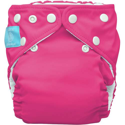 Charlie Banana 2-in-1 Reusable Diapering System, 1 Diaper and 2 Inserts, (One Size), Hot Pink