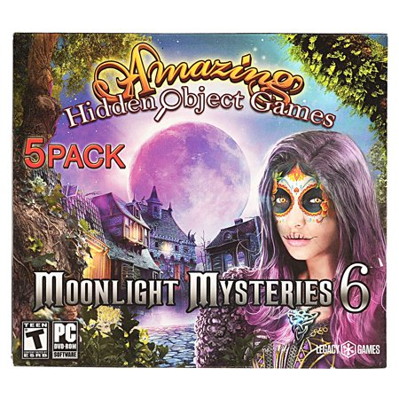 Amazing Hidden Objects Games, 5 pk, Moonlight Mysteries - New Halloween Hidden Object Games