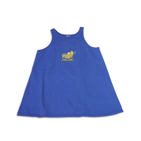 Mulberribush Girls Sizes 7 - 10 Sleeveless Pullover Sweatshirt Jumper Dress, 26300 blue / 7 - Size 7 Girls Dresses