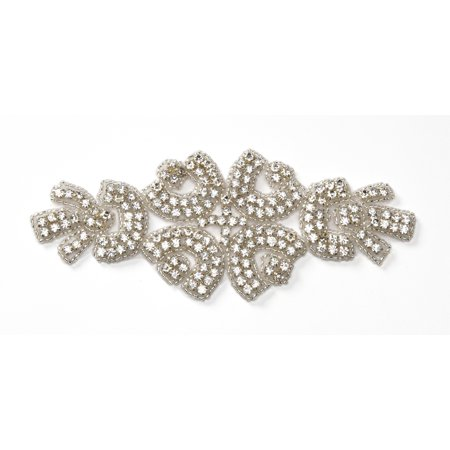 Beaded Applique Crys 2.25X 6In