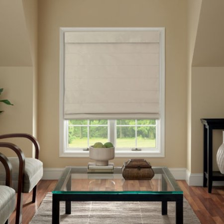 Cordless Fabric Roman Shade Linen 35x64