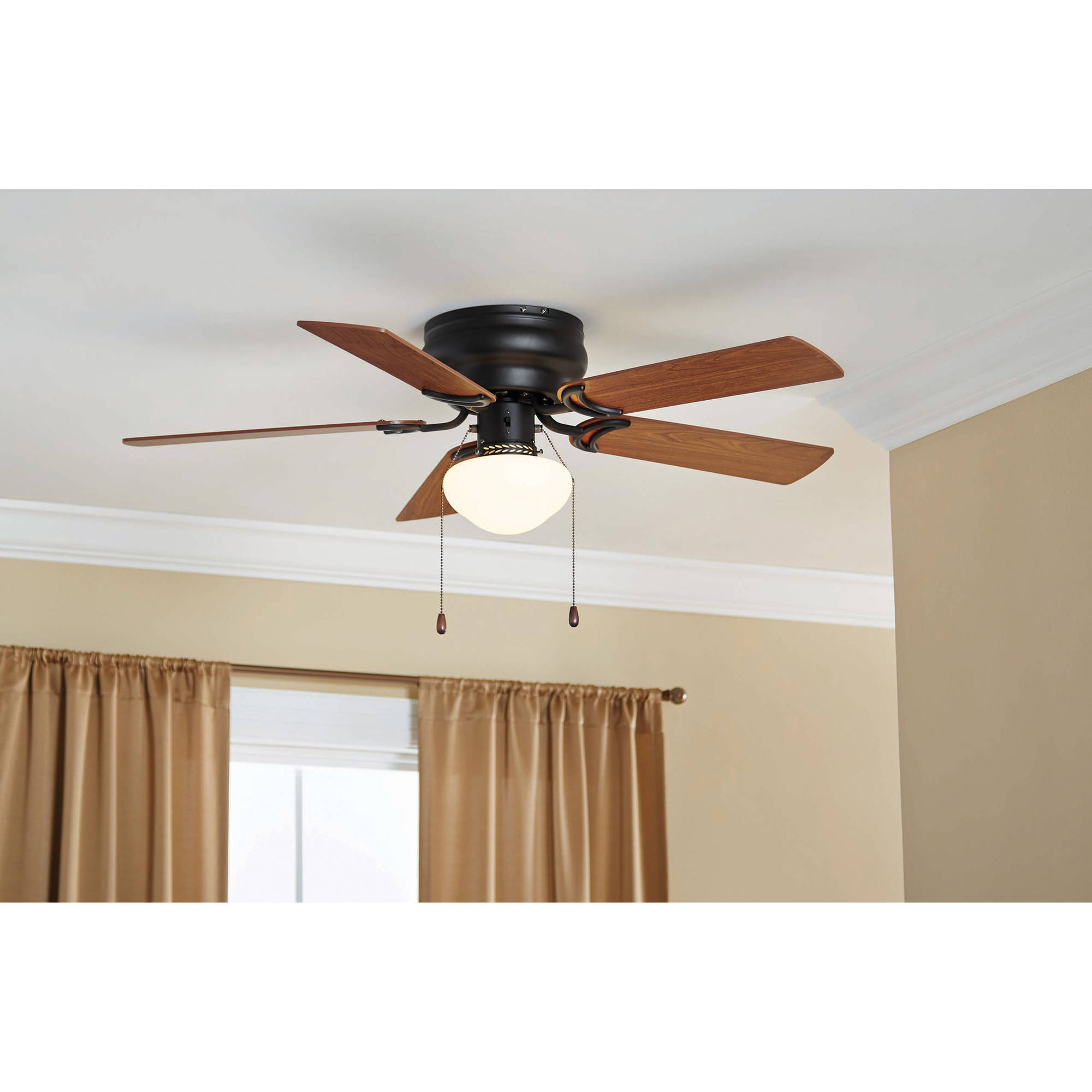 "42"" Mainstays Hugger Fan with Globe Bronze Walmart"