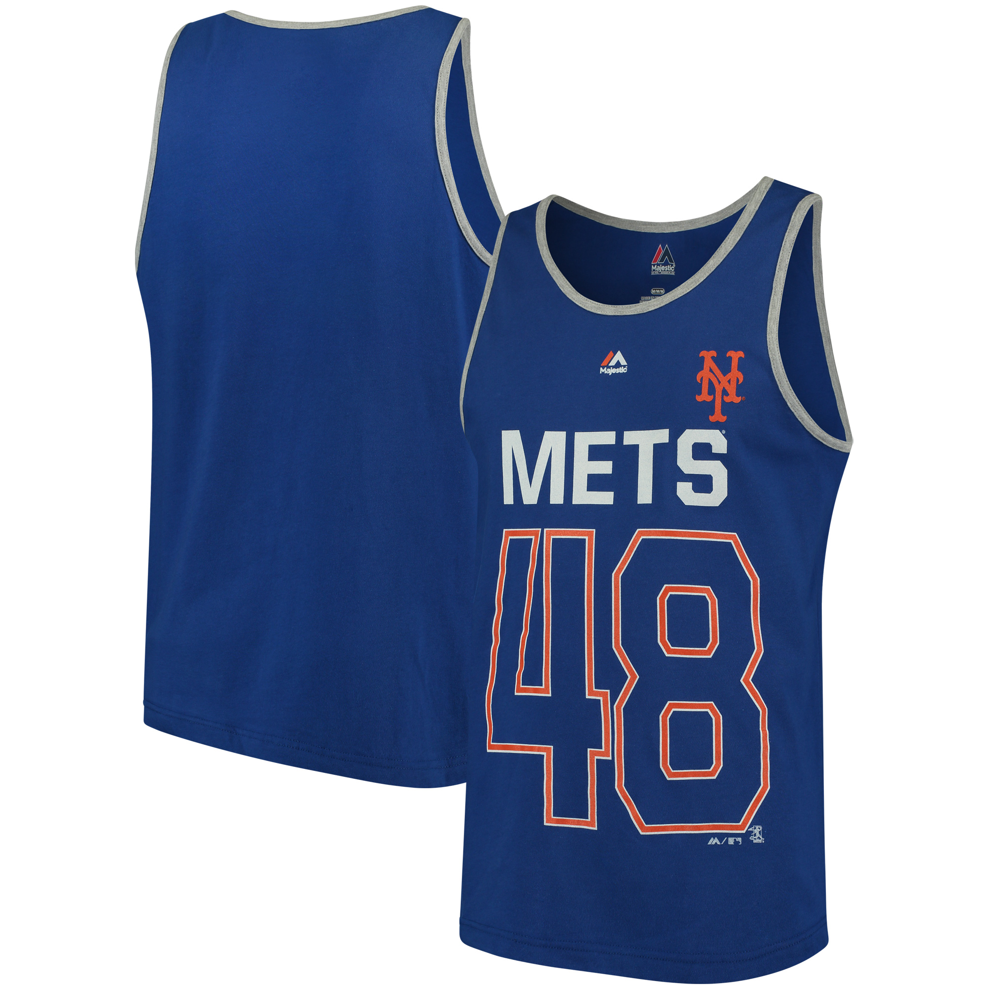 Jacob deGrom New York Mets Majestic Catch The Dream Tank Top - Royal