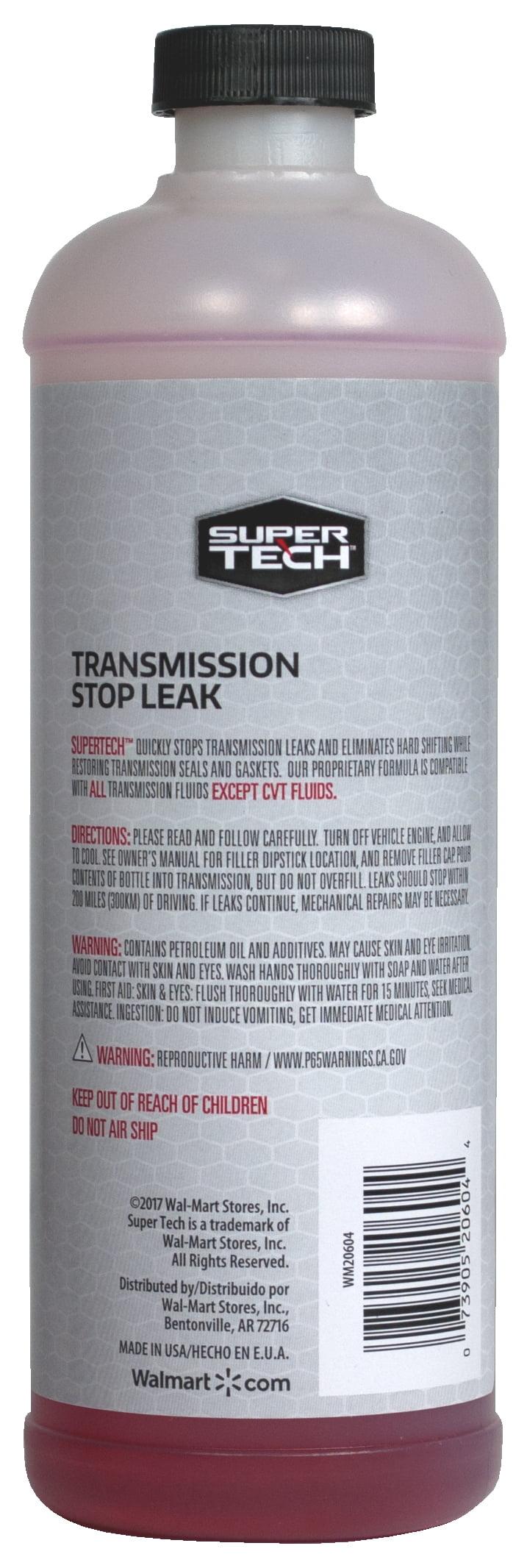 Super Tech Transmission Stop Leak 16 Oz Walmart Com