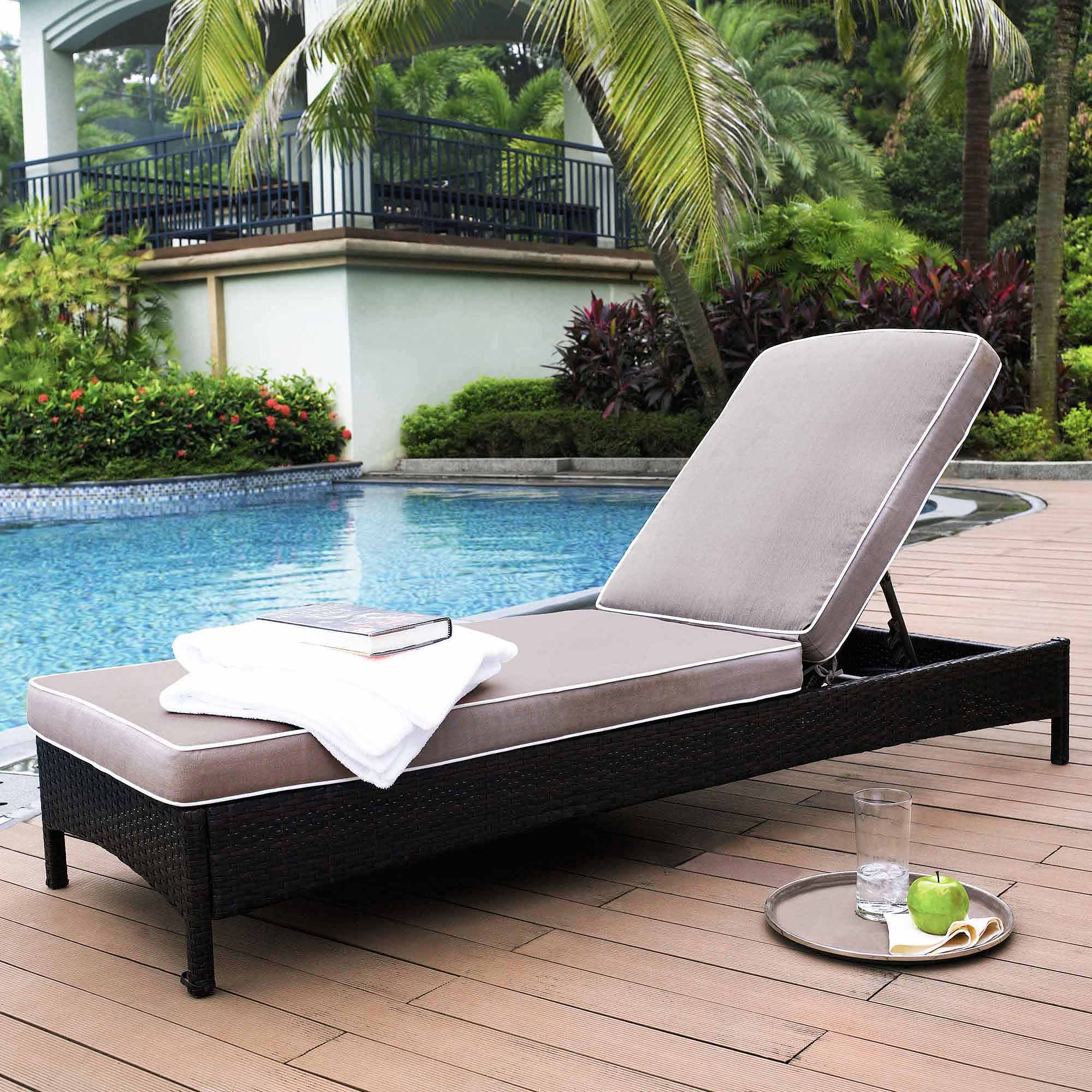 Crosley Furniture Catalina Outdoor Wicker Chaise Lounge
