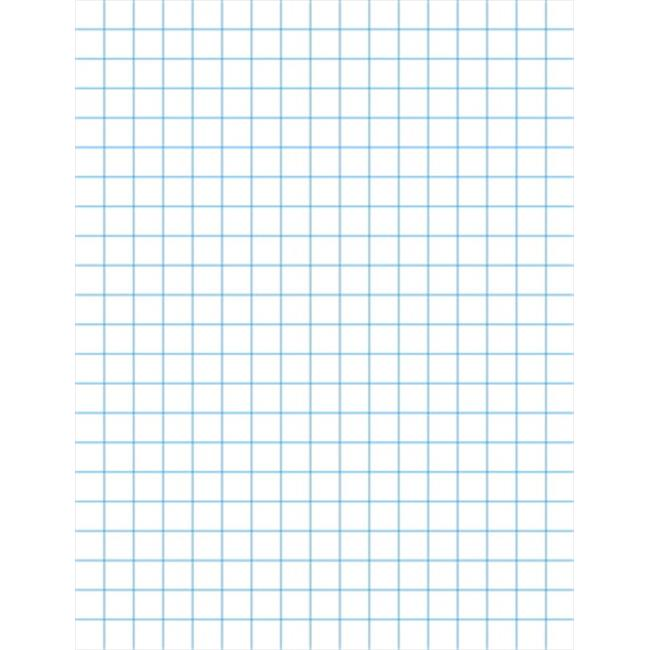 School Smart 085276 Graph Paper With Chipboard Back, 0.125 In. Ruling, White