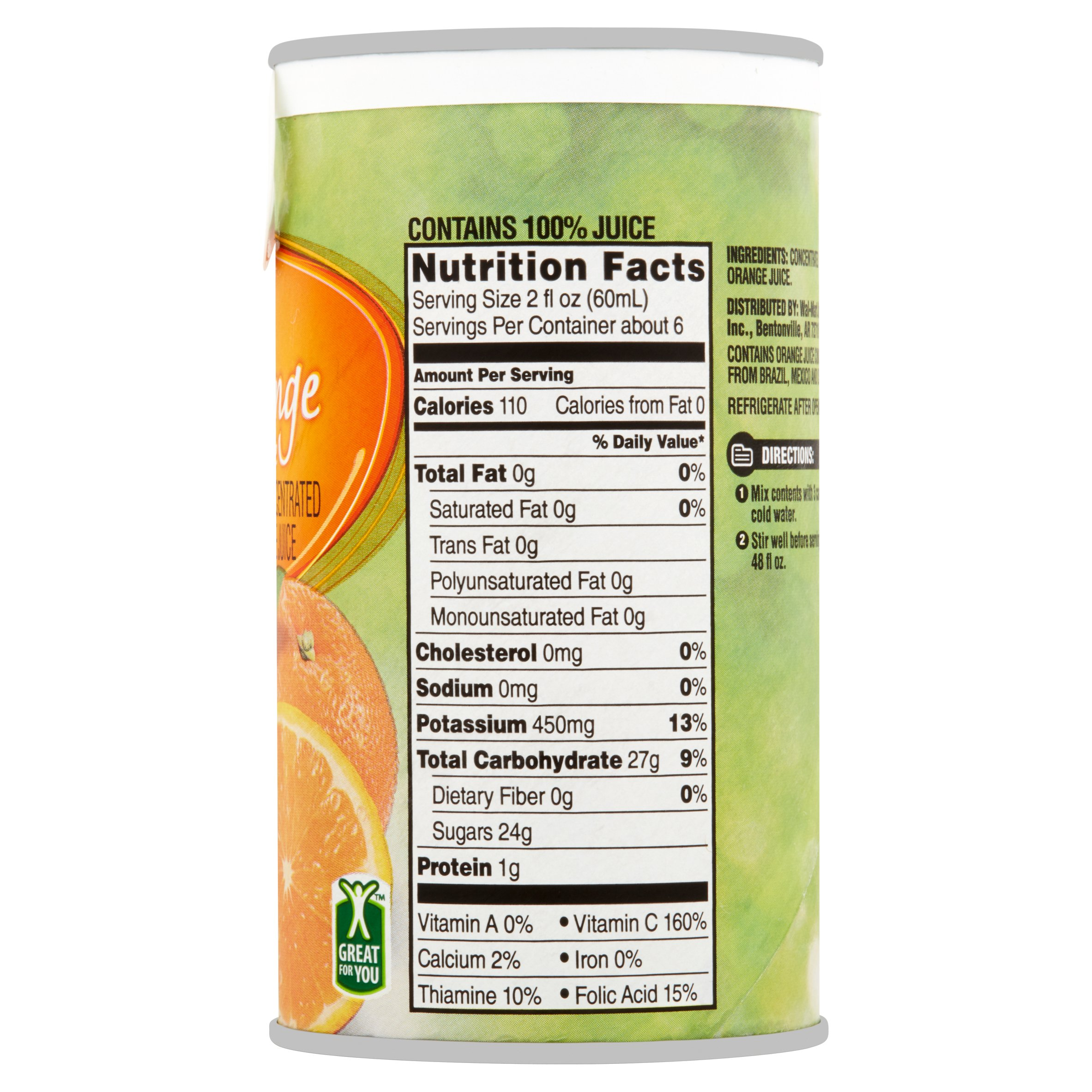 great value frozen orange juice, 12 fl oz - walmart