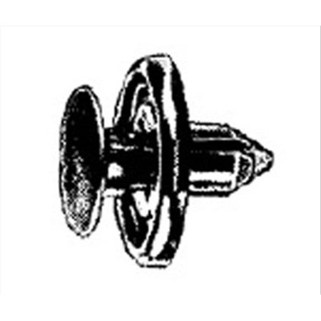 W & E Fasteners 2958 Push Type Retainer Front Fender  Toyota Tercel-'94 & Up, Package Of