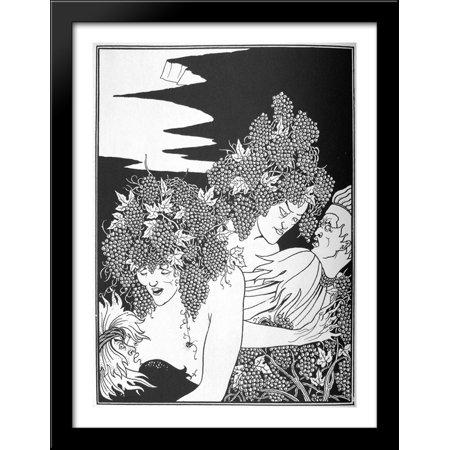 A Snare of Vintage 2 28x38 Large Black Wood Framed Print Art by Aubrey Beardsley