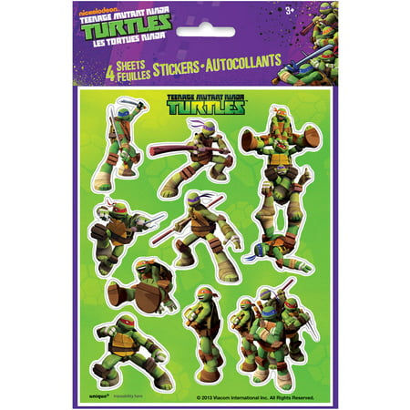 Teenage Mutant Ninja Turtles Sticker Sheets, 4ct - Ninja Turtle Crafts