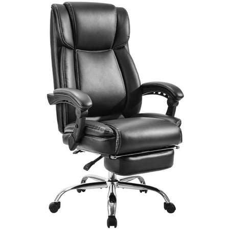 Executive Office Chairs, SEGMART Gaming Chair with Headrest Armrest, PU Leather Executive High Back Swivel Office Computer Desk Chair, Adjustable Reclining Angle Managerial Chairs, 250lbs, -
