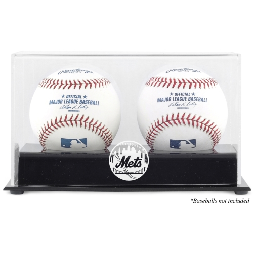 New York Mets Fanatics Authentic Two Baseball Cube Logo Display Case - No Size