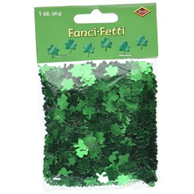 Fanci-Fetti Shamrocks (green) Party Accessory (1 count) (1 Oz/Pkg) (Dark Light Party)
