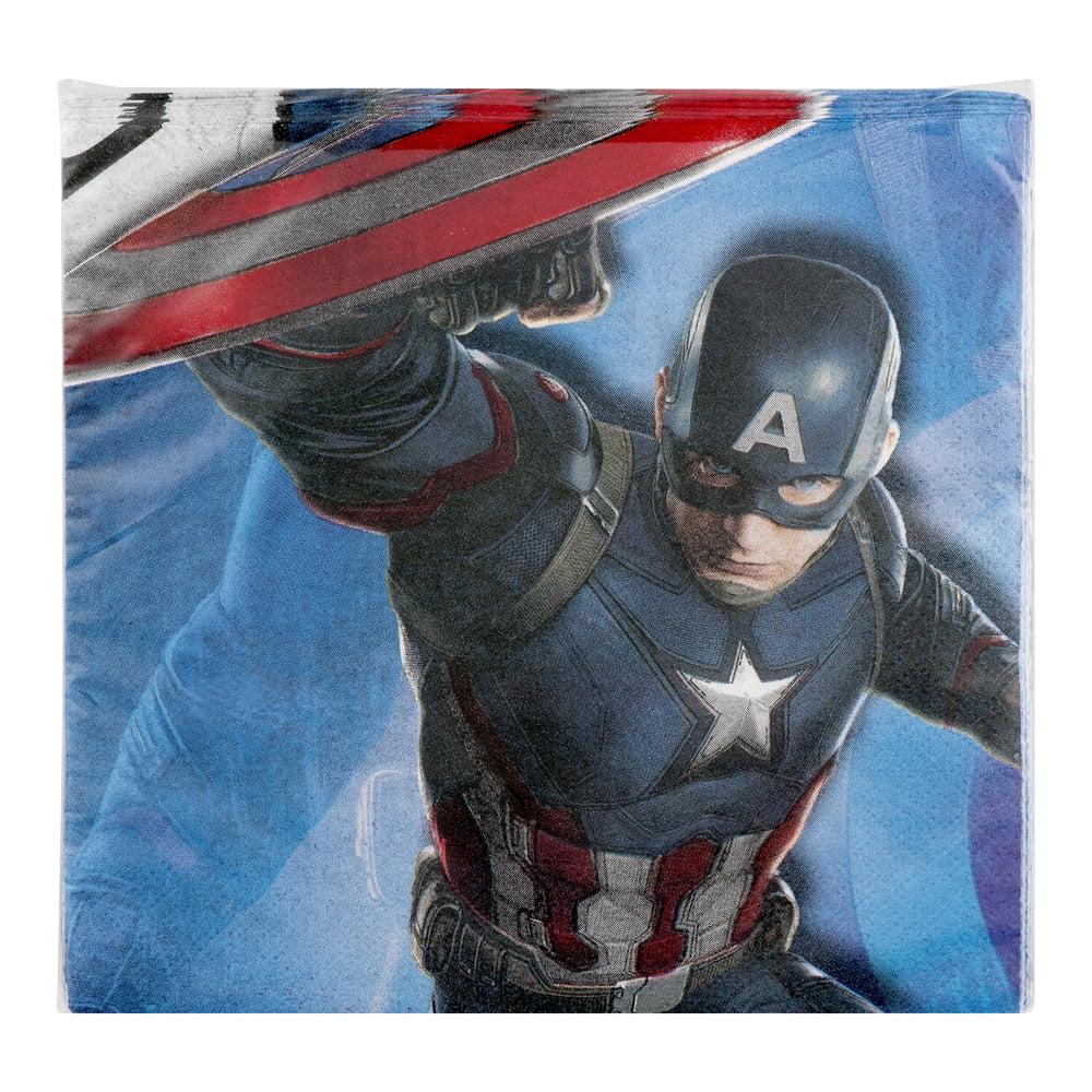 Captain America: Civil War Party Paper Lunch Napkins, 16ct