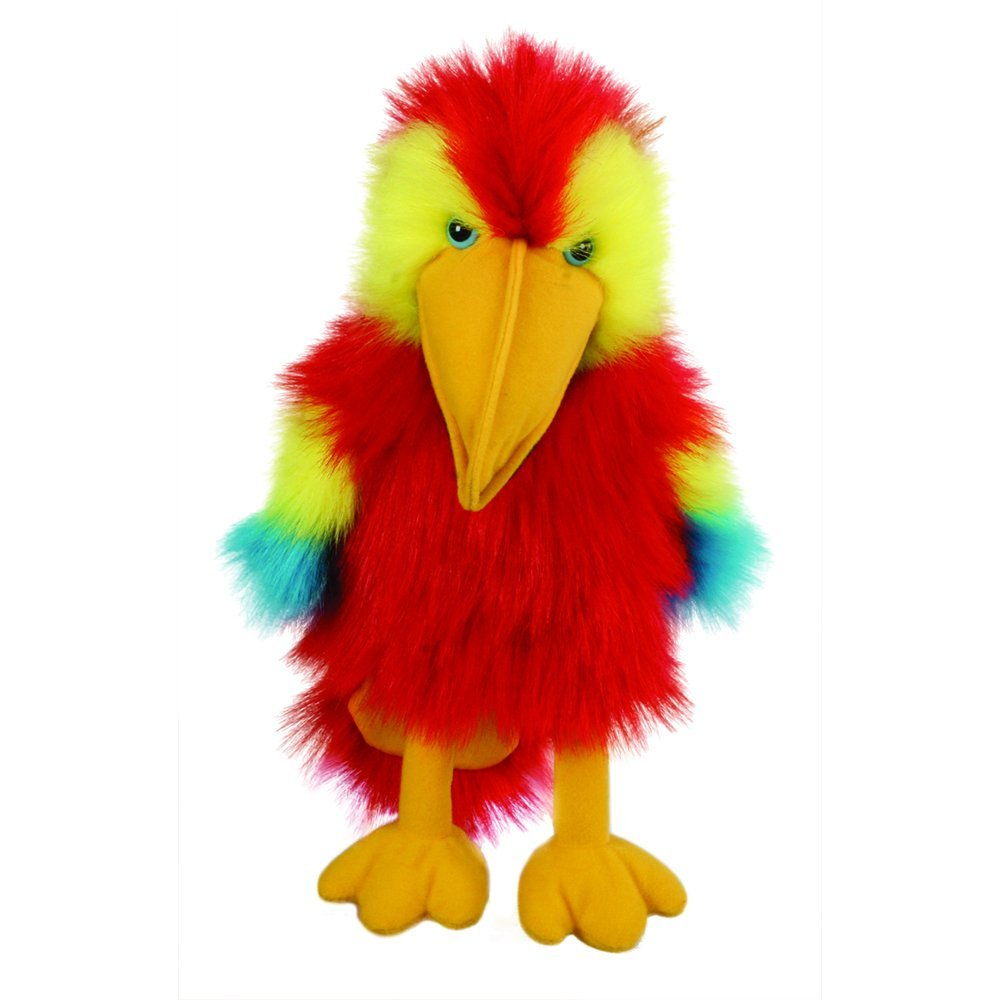 Baby Birds Scarlet Macaw Hand Puppet, Baby;birds are scal...