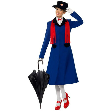 Mary Poppins Women's Adult Halloween Costume (Mary Poppins Kids Costume)