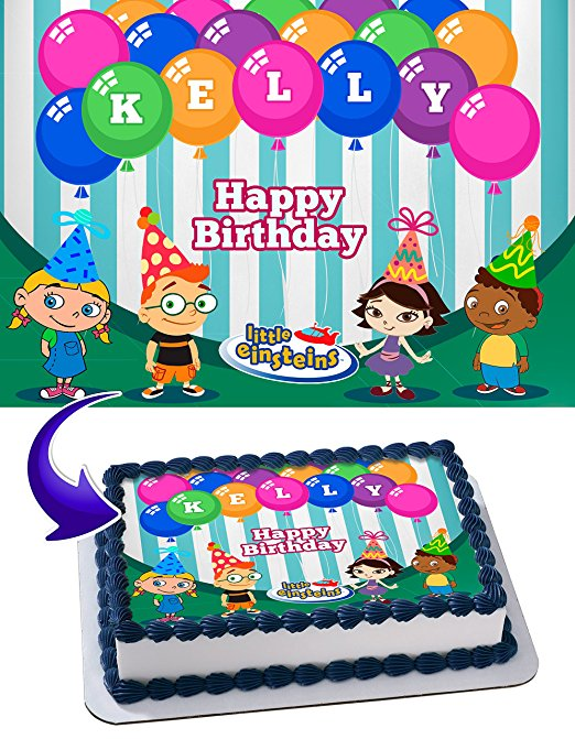 Little Einsteins Birthday Cake Personalized Cake Toppers Edible