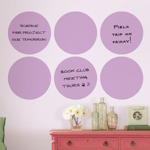 Brewster Home Fashions WallPops Dry-Erase Dot Whiteboard Wall Decal (Set of 6)
