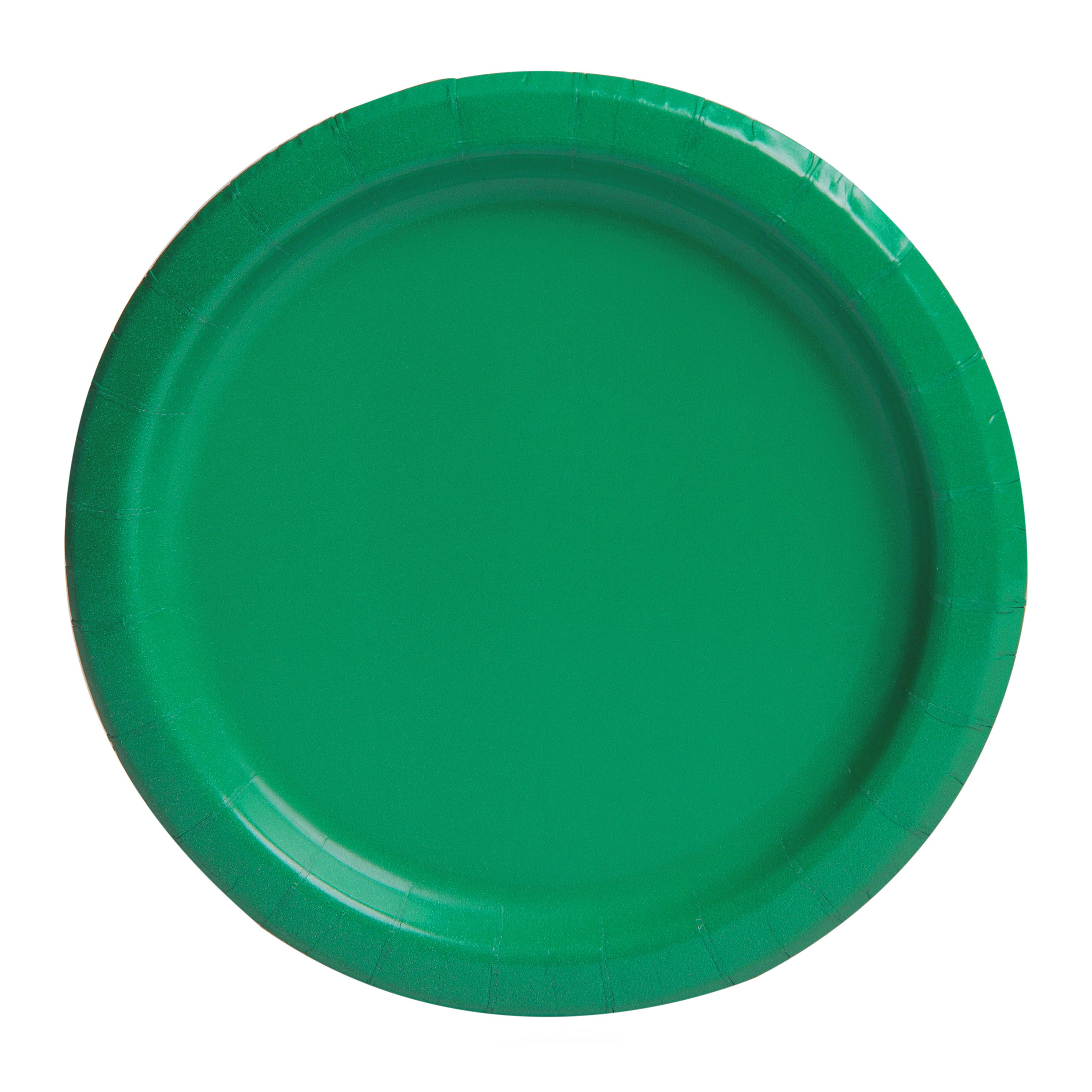 Paper Plates, 7 in, Green, 24ct