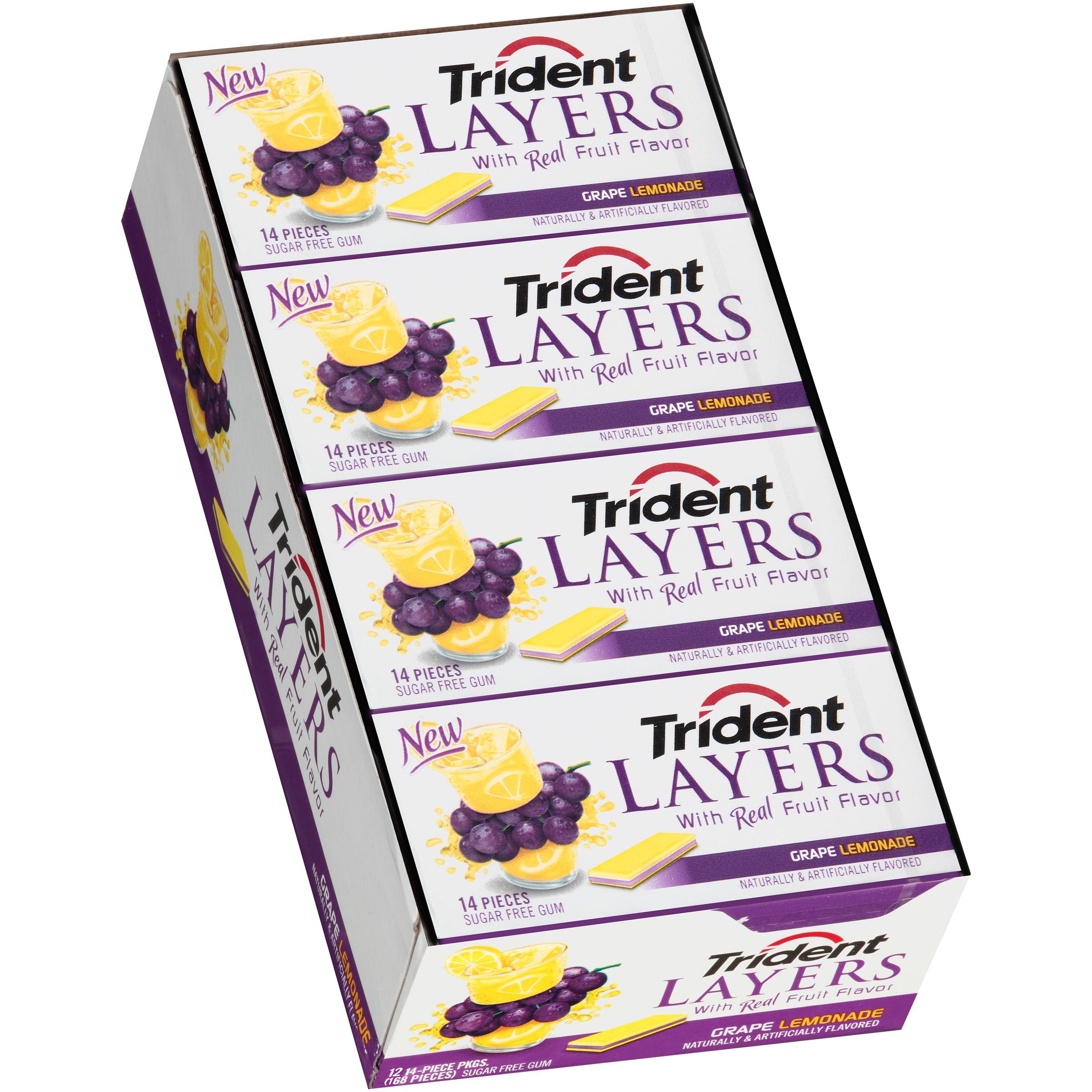 Trident Layers Grape Lemonade Sugar Free Gum 14 Piece Pack