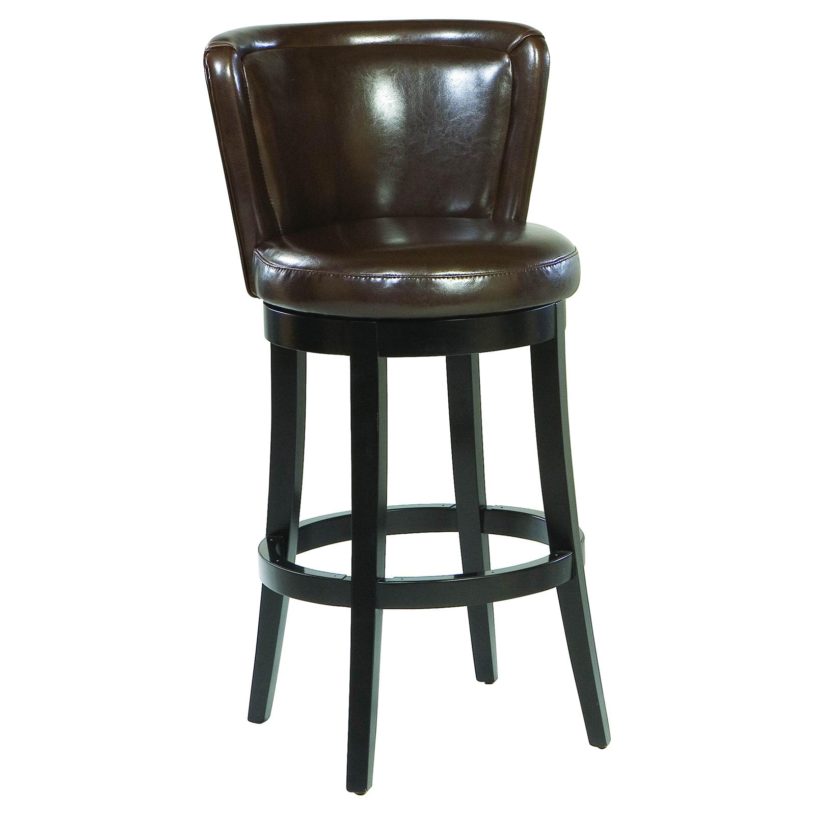 Lisbon 26 Swivel Barstool Brown Leather Walmartcom