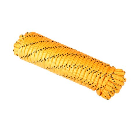WASONS 1/2-inch x 100-feet Yellow Diamond Braid Polypropylene Heavy Duty Utility Rope