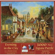Evening in the City 1000 pc Jigsaw Puzzle