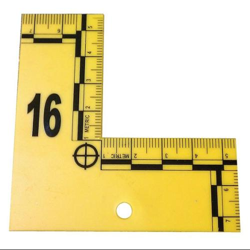 CORTECH LSEFM120Y L to Shaped Flat ID Markers, 1 to 20, Yel