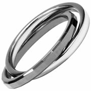 AAB Style GRTS-62R Double Banded PVD Coated Tungsten and Stainless Steel Ring