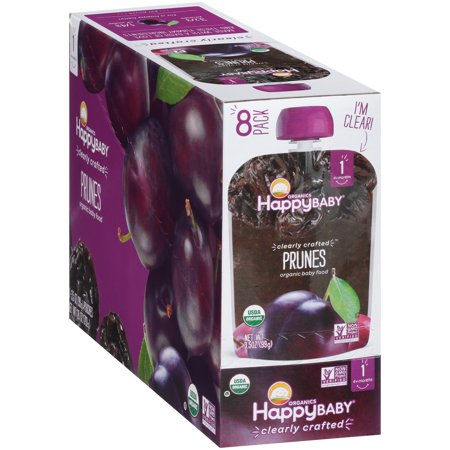 (8 Pack) Happy Baby Organics Prunes Baby Food 3.5