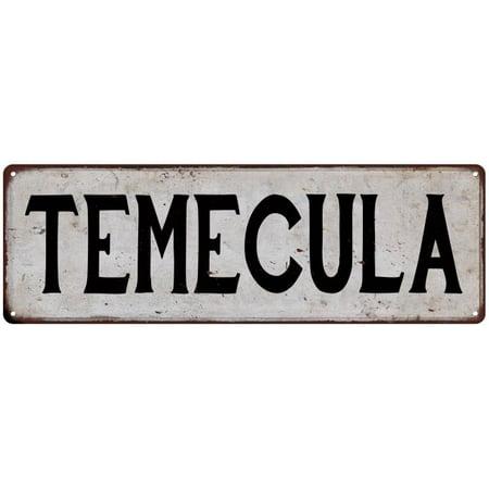 TEMECULA Vintage Look Rustic Metal 6x18 Sign City State 106180041204