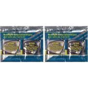 Yellow Off Headlight Cleaner Instant Handy Wipes (2 Sets for 2 Cars)