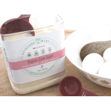 Keystone Pantry Organic Cane Sugar 3-LB Jar